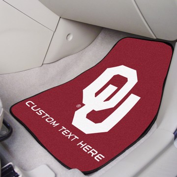Picture of Oklahoma Personalized Carpet Car Mat Set