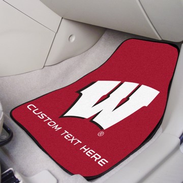 Picture of Wisconsin Personalized Carpet Car Mat Set