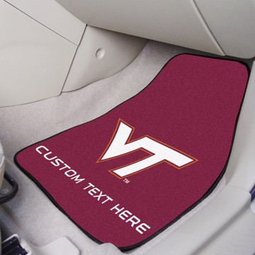 Picture of Virginia Tech Personalized Carpet Car Mat Set