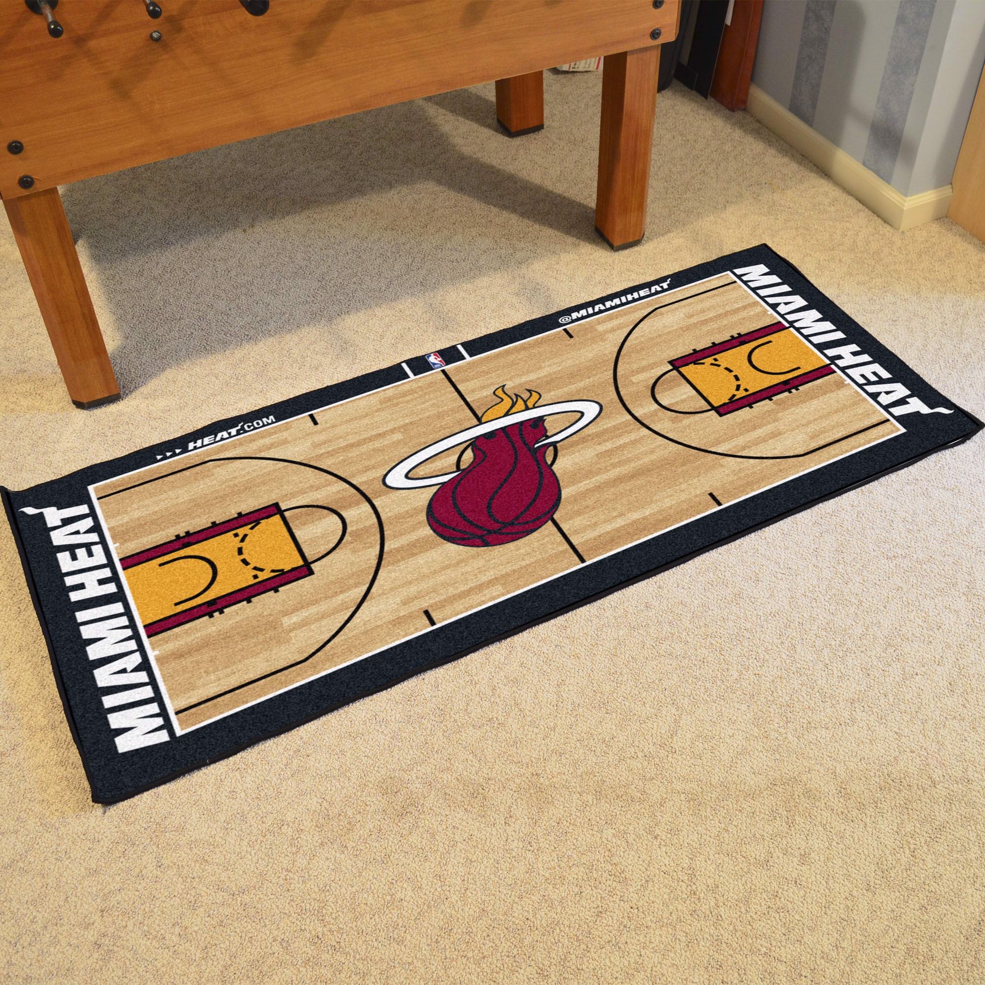 Nba Miami Heat Nba Court Large Runner Fanmats Sports Licensing Solutions Llc