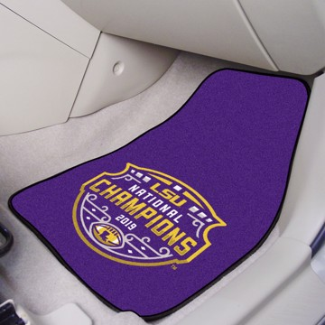Picture of LSU Tigers 2019-20 National Championship Carpet Car Mat Set