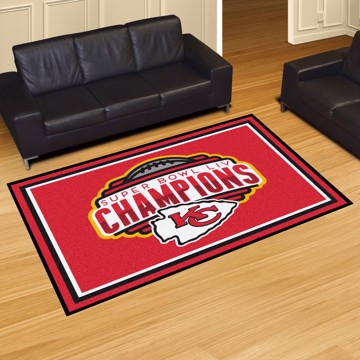 Picture of NFL - Kansas City Chiefs Super Bowl LIV Champions 5x8 Plush Rug