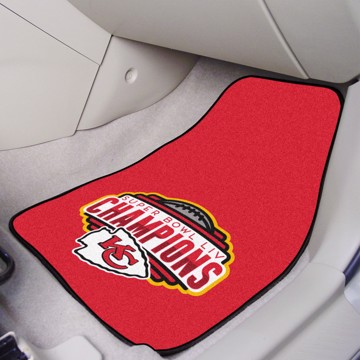 Picture of NFL - Kansas City Chiefs Super Bowl LIV Champions Carpet Car Mat Set