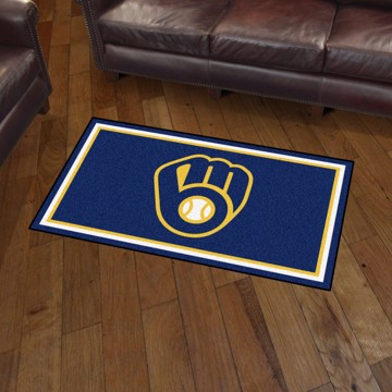 Picture of MLB - Milwaukee Brewers 3'x5' Plush Rug