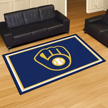 Picture of MLB - Milwaukee Brewers 5'x8' Plush Rug