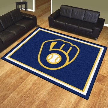 Picture of MLB - Milwaukee Brewers 8'x10' Plush Rug