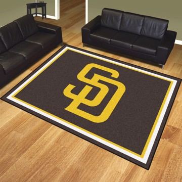 Picture of MLB - San Diego Padres 8'x10' Plush Rug
