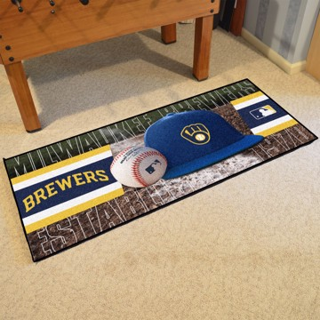 Picture of MLB - Milwaukee Brewers Baseball Runner