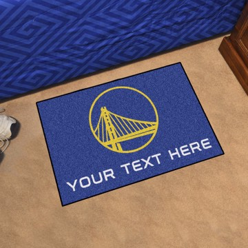 Picture of Golden State Warriors Personalized Starter Mat