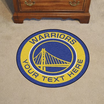 Picture of Golden State Warriors Personalized Roundel Mat