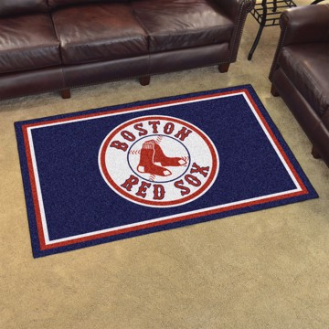 Picture of MLB - Boston Red Sox 4x6 Plush Rug