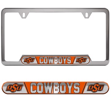 Picture of Oklahoma State Embossed License Plate Frame