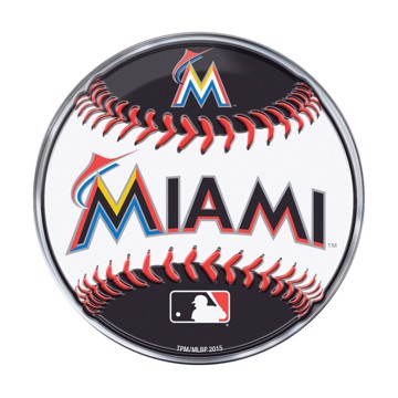 Picture of MLB - Miami Marlins Embossed Baseball Emblem