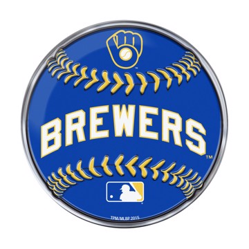 Picture of MLB - Milwaukee Brewers Embossed Baseball Emblem
