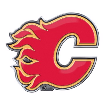 Picture of NHL - Calgary Flames Embossed Color Emblem