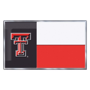 Picture of Texas Tech Embossed State Flag Emblem