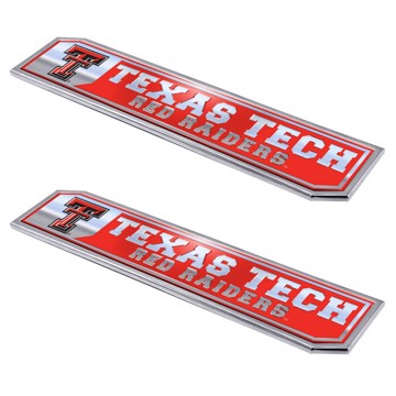 Picture of Texas Tech Embossed Truck Emblem 2-pk