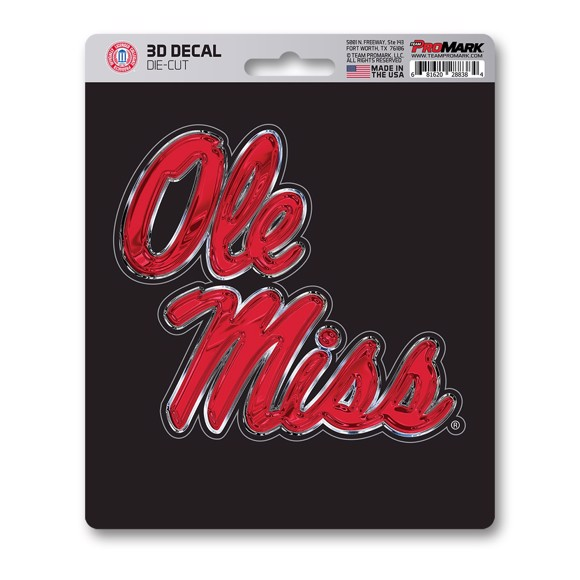 Picture of Ole Miss 3D Decal