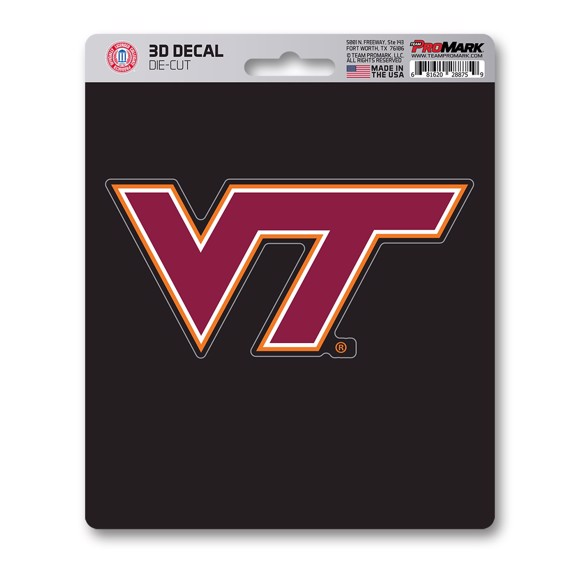 Picture of Virginia Tech 3D Decal