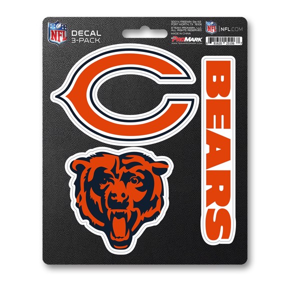 Picture of NFL - Chicago Bears Decal 3-pk