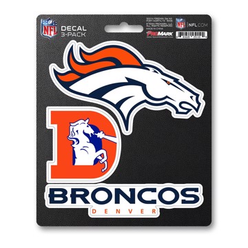 Picture of NFL - Denver Broncos Decal 3-pk