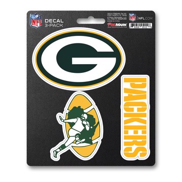 Picture of NFL - Green Bay Packers Decal 3-pk