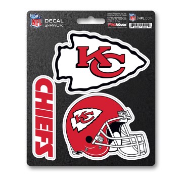 Picture of NFL - Kansas City Chiefs Decal 3-pk