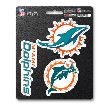 Picture of NFL - Miami Dolphins Decal 3-pk