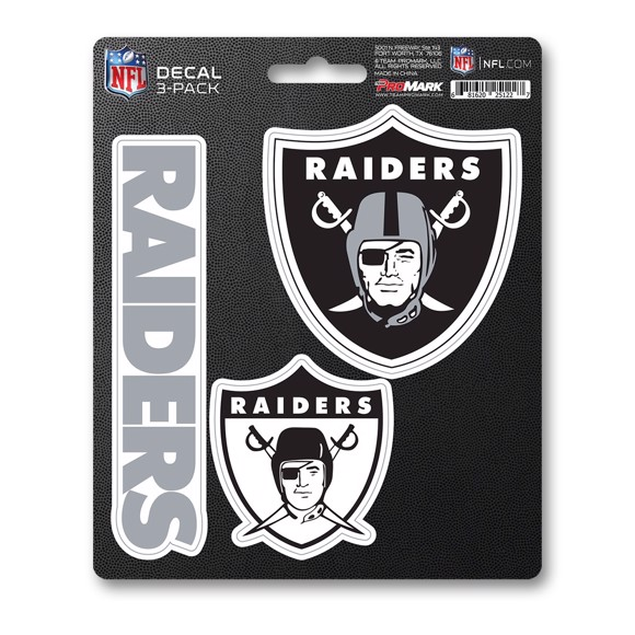 Picture of NFL - Las Vegas Raiders Decal 3-pk