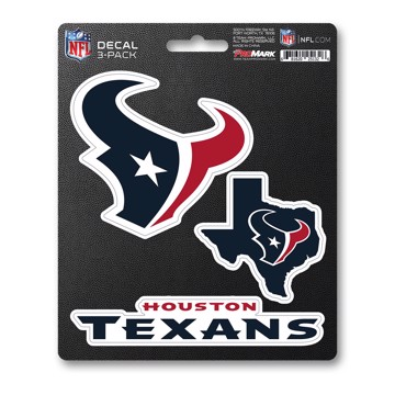 Picture of NFL - Houston Texans Decal 3-pk