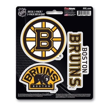 Picture of NHL - Boston Bruins Decal 3-pk
