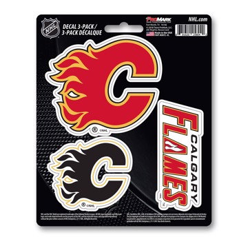 Picture of NHL - Calgary Flames Decal 3-pk
