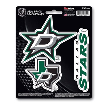 Picture of NHL - Dallas Stars Decal 3-pk
