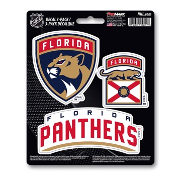 Picture of NHL - Florida Panthers Decal 3-pk