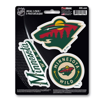 Picture of NHL - Minnesota Wild Decal 3-pk