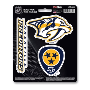 Picture of NHL - Nashville Predators Decal 3-pk