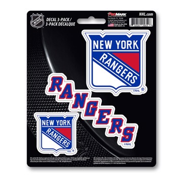 Picture of NHL - New York Rangers Decal 3-pk