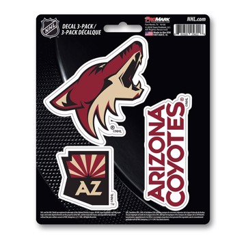 Picture of NHL - Arizona Coyotes Decal 3-pk