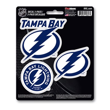 Picture of NHL - Tampa Bay Lightning Decal 3-pk