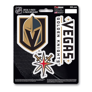 Picture of NHL - Vegas Golden Knights Decal 3-pk