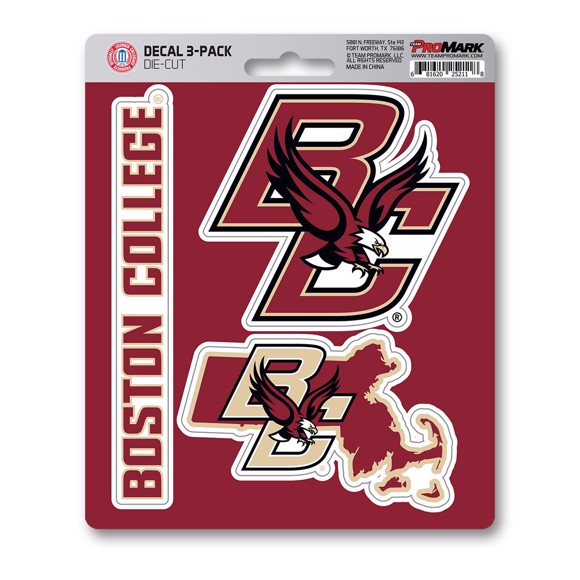 Picture of Boston College Decal 3-pk