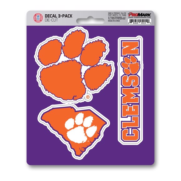 Picture of Clemson Decal 3-pk
