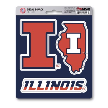 Picture of Illinois Decal 3-pk