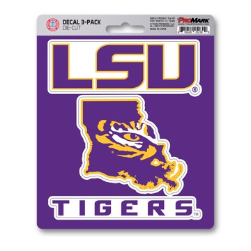 Picture of LSU Decal 3-pk