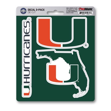 Picture of Miami Decal 3-pk