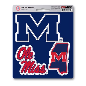 Picture of Ole Miss Decal 3-pk