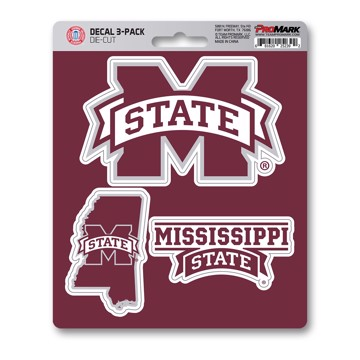 Picture of Mississippi State Decal 3-pk