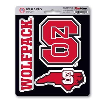 Picture of NC State Decal 3-pk