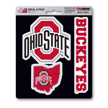 Picture of Ohio State Decal 3-pk