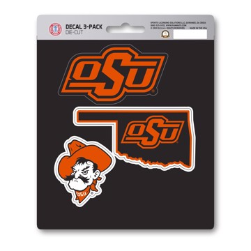 Picture of Oklahoma State Decal 3-pk